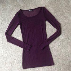 Mesh, Sheer, Purple Blouse